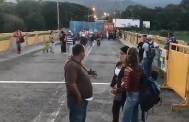 Así transcurre el acceso hacia el lado de Cúcuta.