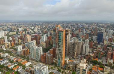 Vista panorámica de los edificios en el norte de Barranquilla.