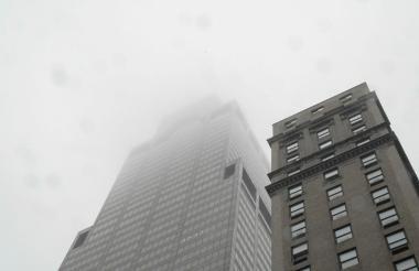 Edificio en el que el helicóptero se estrelló.
