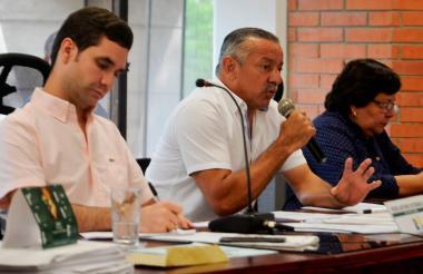 José Nicolás Vega durante su intervención en la Asamblea de Sucre ayer.