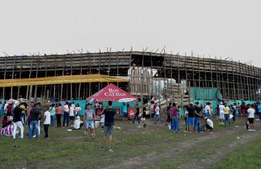 Vista de una de las corralejas celebradas en el muncipio de Santo Tomás en 2018.