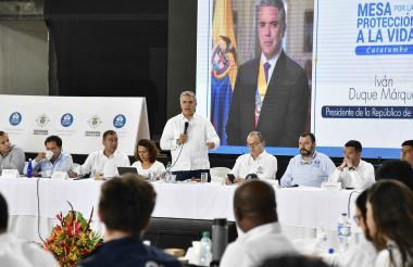 Iván Duque Márquez en su intervención en Ocaña.
