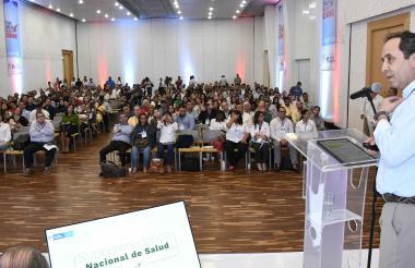 El superintendente nacional de Salud, Fabio Aristizábal, durante su intervención en el foro de este viernes.