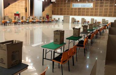 Las urnas ya están listas en los puestos de votación.