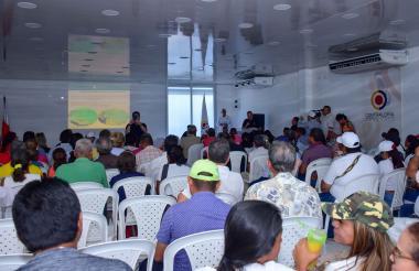 Aspecto del encuentro en Puerto Colombia.