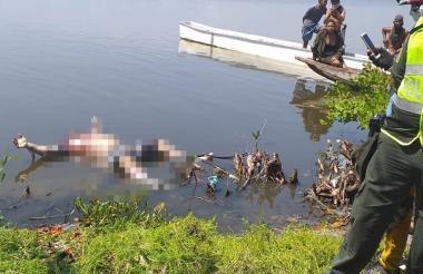 El cuerpo hallado en la Ciénaga Grande de Santa Marta.