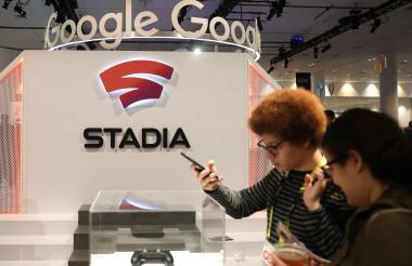 Stand de presentación de 'Stadia' , de Google.