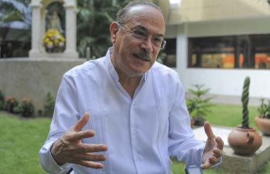 Ricardo Castañón conversó con EL HERALDO en su visita al colegio Cervantes en Barranquilla.