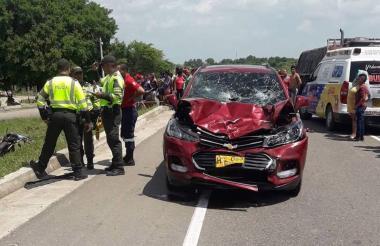 El accidente se presentó en el kilómetro 22 + 930.