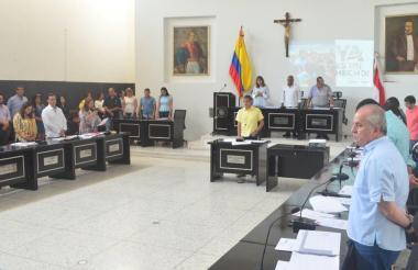 Los disputados del Atlántico al inicio de una de las sesiones de la Asamblea.