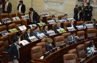 Aspecto del último día de la legislatura.
