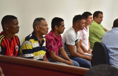 Presuntos integrantes de la comisión de finanzas y logística del frente Camilo Torres.