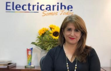 Ángela Rojas Combariza, agente especial de la empresa Electricaribe.