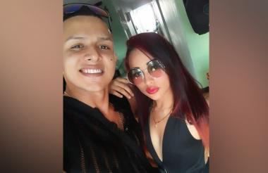 Kevin Felipe Maury González y su novia Laura Marcela Guarín Gómez.