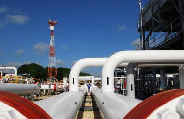 Instalaciones de una estación del sistema de transporte de gas de Promigas.