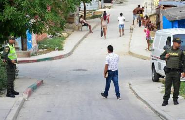 Sector del barrio La Sierrita donde fue atacado a bala el adolescente de 17 años.