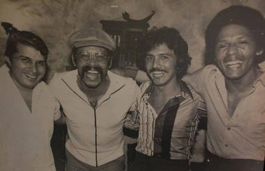 Carlos Castillo con Óscar De León, Rafael Orozco e Israel Romero.