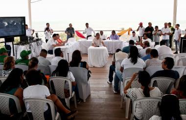 Vista de la III sesión descentralizada de la Asamblea del Atlántico que se realizó en Puerto Colombia.