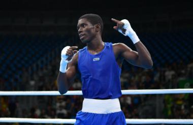 El boxeador colombiano Yuberjen Martínez en los Juegos Olímpicos 2016.