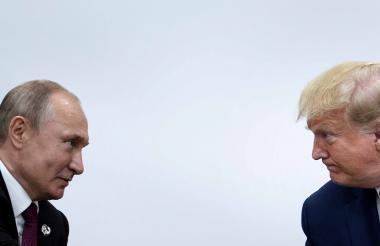Vladimir Putin y Donald Trump  durante el G20.