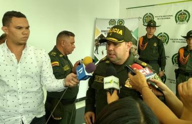 El coronel Yecid Peña, comandante operativo de la Policía Metropolitana de Barranquilla.