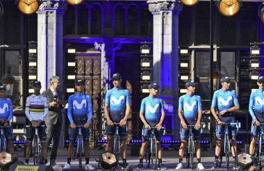 Equipo Movistar donde está el colombiano Nairo Quintana.