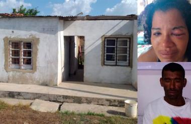 Vivienda donde habitaba la pareja en el barrio La Floresta en Manatí.