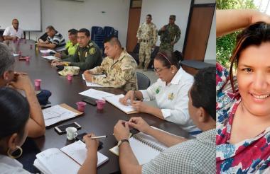 Consejo de Seguridad en El Copey sobre caso de Tatiana Posso Espitia, asesinada a tiros por dos hombres en moto.