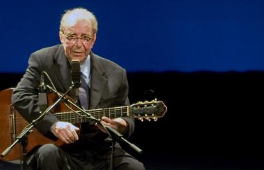Joao Gilberto en una presentación en agosto de  2008.