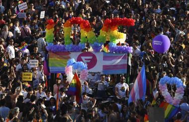 Momento de la marcha en Madrid.