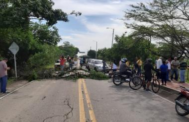 El bloqueo durante el paro cívico que se extendió por cuatro días en La Guajira.