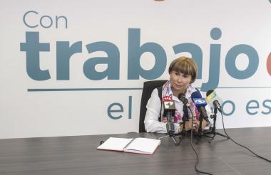 La ministra de Trabajo, Alicia Arango.