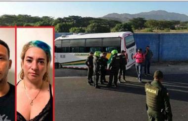 Arnaldo Eliécer Cano Gómez y Claudia Patricia Acosta García, asesinados dentro de un bus.
