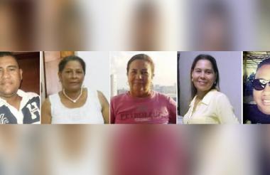 Alexander Salas, Simura Rico, Ángela Castrillón, Ruby Ramos y Ricardo León, cinco de los seis fallecidos en el accidente de Bosconia.