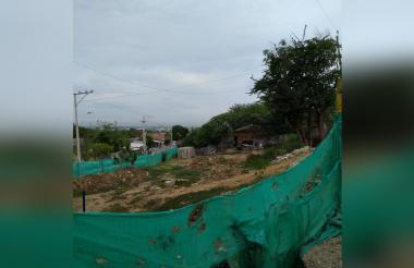 Estado de la obra en el barrio La Esmeralda.