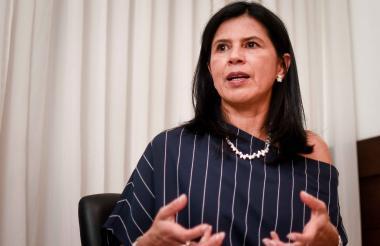 Gloria Alonso en entrevista con EL HERALDO.