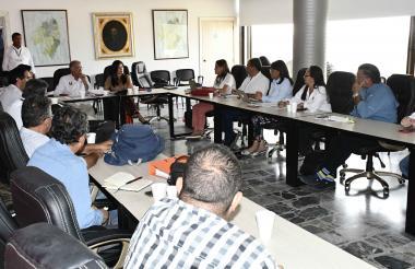 Aspecto de la reunión que se llevó a cabo en la Gobernación del Atlántico.