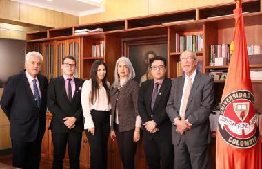 Jorge Alarcón Niño, Alexander Tapia Sierra, Nohemí Santodomingo Guerrero, Elizabeth Villarreal Correcha, Carlos Parga Lozano y Fernando Dejanón Rodríguez.