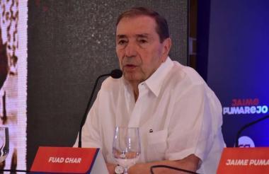 Fuad Char durante el evento en el cual entregó el aval de Cambio Radical a Jaime Pumarejo.