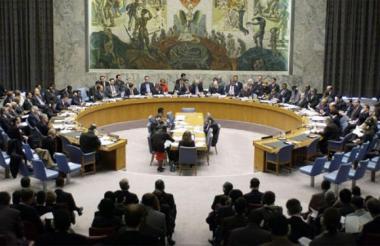 Aspecto del Consejo de Seguridad de la ONU.