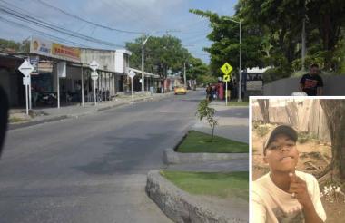Zona del atentado contra el joven Yidier Romero.