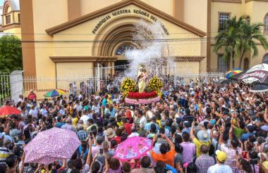 Celebración en la Parroquia Nuestra Señora del Carmen de Barranquilla en 2018.
