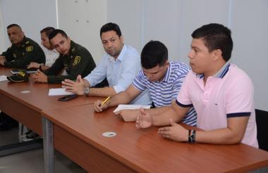 Aspecto de la reunión sobre la Universidad de Sucre.