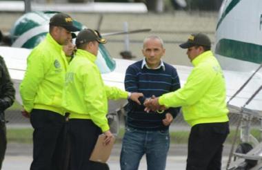 'Marquitos' Figueroa cuando llegó al país extraditado desde Brasil.