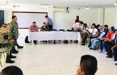 El nuevo caso de desplazamiento fue revelado en el Comité de Justicia Transicional Extraordinario realizado en Tierralta.