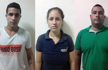 Tres personas fueron capturadas en flagrancia por extorsión.