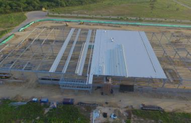 Así está el avance de la planta de Opp Film en zona franca Zofia.