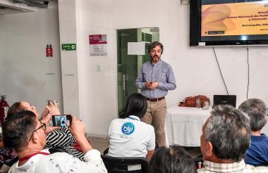 El director del Dane, Daniel Oviedo, durante la presentación del Censo en Barranquilla.