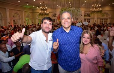 Jaime Pumarejo, José David Name y Elsa Noguera