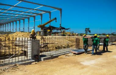 Obras de la planta que construye Oben Grupo en zona franca Zofia en Galapa.